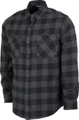 Burton Brighton Flannel Shirt - true black heather buffalo plaid - view large