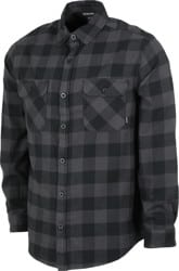 Burton Brighton Flannel Shirt - true black heather buffalo plaid