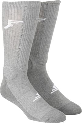 Footprint Bamboo Crew Knee Hi Painkiller Shin/Ankle Guard Sock - grey - view large