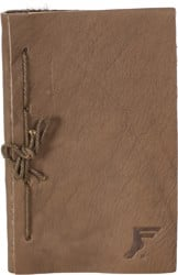 Footprint Leather Notebook - brown