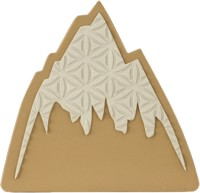 Burton Foam Mat Stomp Pad - mountain logo/white
