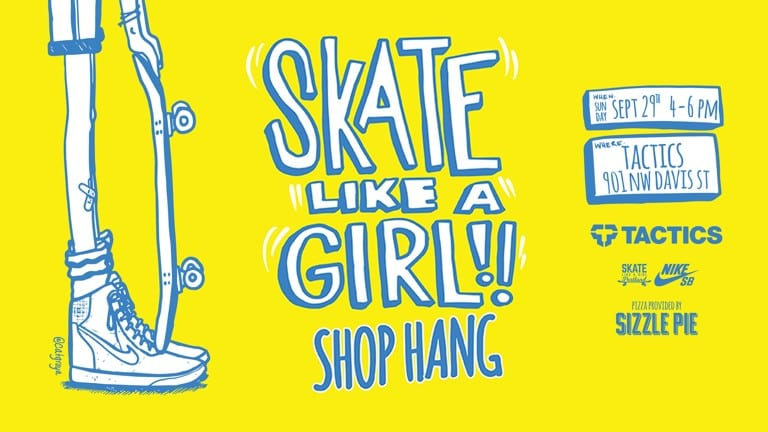 Skate Like A Girl Portland Shop Hang | Sept. 29