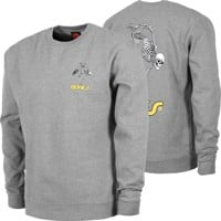 Powell Peralta Skate Skeleton Crew Sweatshirt - gunmetal heather