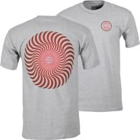 Spitfire Classic Swirl Fade T-Shirt - athletic heather/red