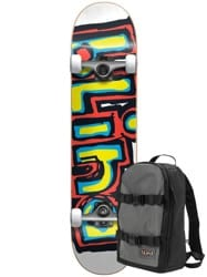 Blind Matte OG 7.75 Complete Skateboard (w/ Backpack) - orange/green