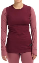 Burton Women's Midweight Base Layer Crew - rose brown/port royal