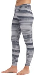 Burton Women's Midweight Base Layer Pant - gray revel stripe