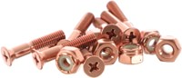 Pig Pig Bolts Phillips Skateboard Hardware - copper