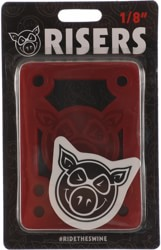Pig Pile Shock Pad Skateboard Risers - clear red