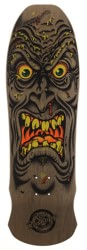 Santa Cruz Roskopp Face 9.5 LTD Reissue Skateboard Deck - brown stain w/ matte finish