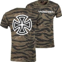 Independent Bar/Cross T-Shirt - tiger camo