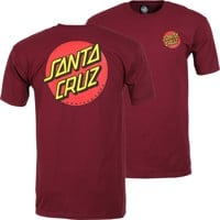 Santa Cruz Classic Dot Chest T-Shirt - burgundy