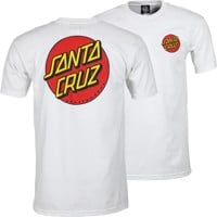 Santa Cruz Classic Dot Chest T-Shirt - white