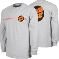 Santa Cruz Other Dot L/S T-Shirt - silver/black