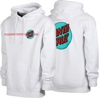 Santa Cruz Other Dot Hoodie - white/teal