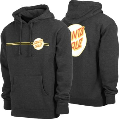 Santa Cruz Other Dot Hoodie - charcoal heather/white - view large