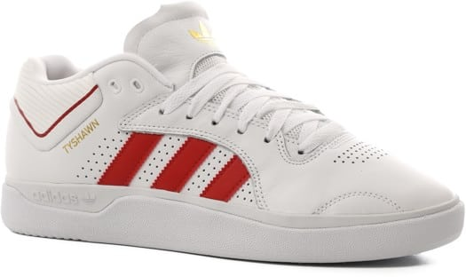 Adidas Tyshawn Pro Skate Shoes - footwear white/scarlet/footwear white - view large