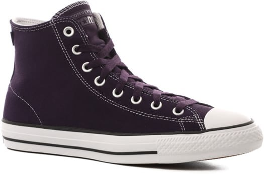 Converse Chuck Taylor All Star Pro High Skate Shoes - grand purple/vivid sulfur/white - view large