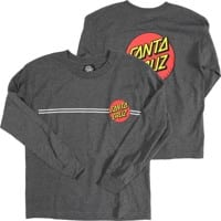 Santa Cruz Kids Classic Dot L/S T-Shirt - charcoal heather