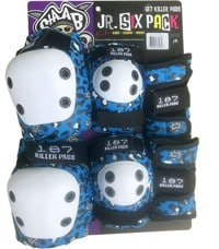 187 Killer Pads Six Pack Junior Pad Set - staab blue leopard