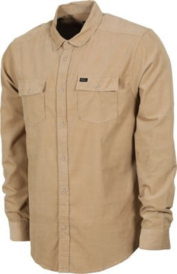 RVCA Freeman Cord L/S Shirt - dust yellow - view large