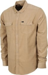 RVCA Freeman Cord L/S Shirt - dust yellow
