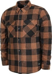 Volcom Bower Polar Fleece Flannel Shirt - bison