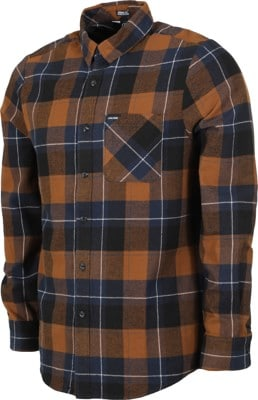 Volcom Caden Plaid Flannel Shirt - bison - view large