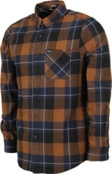 Volcom Caden Plaid Flannel Shirt - bison