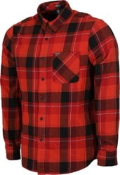Volcom Caden Plaid Flannel Shirt - deep red