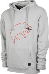 YES Muzzled Pig Hoodie - heather grey