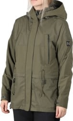 Holden Oversized Parka Jacket - stone green