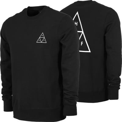 HUF Essentials Triple Triangle Crew Sweatshirt - black - view large