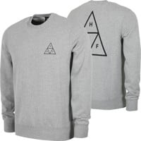 HUF Essentials Triple Triangle Crew Sweatshirt - grey heather