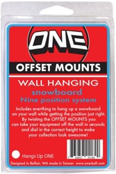 One Ball Jay Snowboard Wall Hanging Offset Mounts