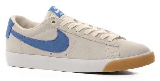 Nike SB Zoom Blazer Low GT Skate Shoes - pale ivory/pacific blue-white - view large
