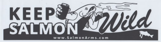 Salmon Arms Keep Salmon Wild Bumper Sticker - white - view large