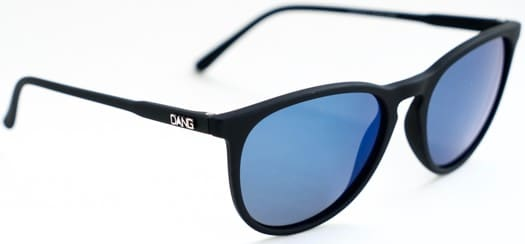 Dang Shades Fenton Polarized Sunglasses - matte black/blue mirror polarized lens - view large