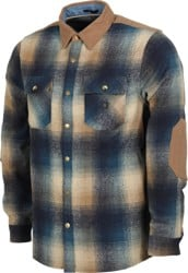 Roark Nordsman Flannel Shirt - navy/tan