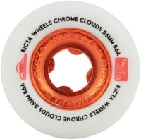 Ricta Cloud Skateboard Wheels - white/red chrome (86a)