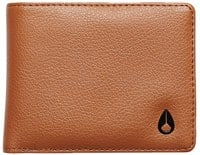 Nixon Cape Vegan Leather Wallet - saddle