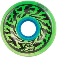 Santa Cruz Slime Balls Skateboard Wheels - swirly trans green swirl (78a)