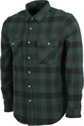 Brixton Bowery Flannel - black/green