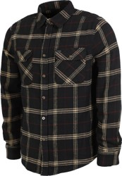 Brixton Bowery Flannel - black/ivory