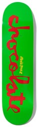 Chocolate Perez Original Chunk 8.375 Skateboard Deck - green/red