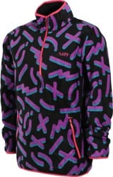 Neff Throwback Polar Fleece Jacket - black/purple
