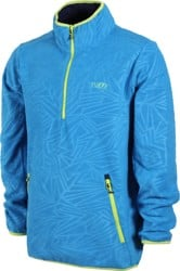 Neff Throwback Polar Fleece Jacket - blue/lime