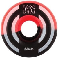 Orbs Apparitions Skateboard Wheels - neon coral/black split (99a)