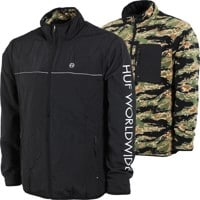 HUF Milton Reversible Polar Fleece Zip Jacket - tiger camo