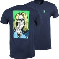 Girl Skull of Fame T-Shirt - navy